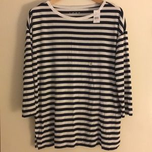 LOFT Striped Top (NWT)